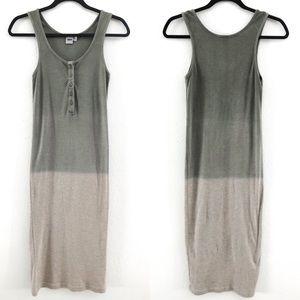 ASOS Green Ombré Tank Midi Dress